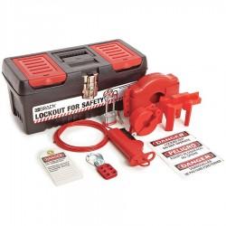 Brady - 105959 - Portable Lockout Kit, Filled, Valve Lockout, Tool Box, Black