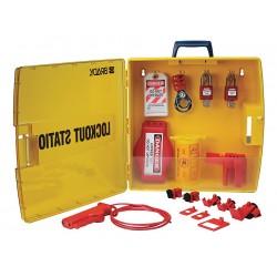 Brady - 105934 - Brady Black/Yellow Polypropylene Ready Access Lockout Station LOCKOUT STATION, ( Kit )