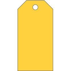 Brady - 102017 - Brady 5 X 2 1/2 Yellow Polyester Tag, ( Package )