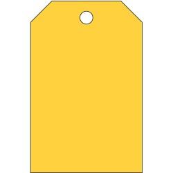 Brady - 102010 - Blank Tag, Yellow, Height: 5 x Width: 3-1/4, 25 PK