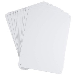 Brady - 106463 - Blank, No Header, Acrylic, 7-1/4 x 10-1/4, With Mounting Holes, Not Retroreflective
