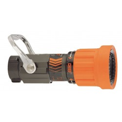 Elkhart Brass - 4000-28 - Fire Hose Nozzle, 2-1/2 In., Orange