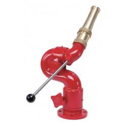 Elkhart Brass - 8593 - Monitor, 3 150 lb. ANSI Flange Mounting, Tiller Control, 3 Flange Inlet, 2-1/2 M NHT Outlet