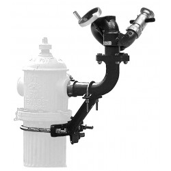 Elkhart Brass - 8393-H - Hydrant Monitor, Hydrant Mount Mounting, Handwheel Control, 2-1/2 F NHT Inlet, 2-1/2 M NHT Outlet