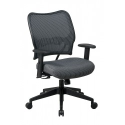 Office Star Products - 13-V44N1WA - Chocolate Fabric Desk Chair 19 Back Height, Arm Style: Adjustable