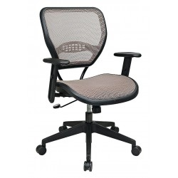 Office Star Products - 55-88N15 - Latte Mesh Desk Chair 18-1/2 Back Height, Arm Style: Adjustable