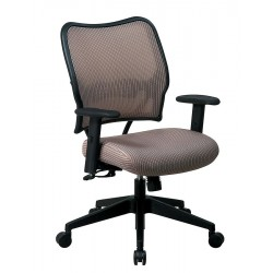Office Star Products - 13-V88N1WA - Latte Fabric Desk Chair 19 Back Height, Arm Style: Adjustable