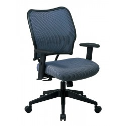 Office Star Products - 13-V77N1WA - Blue Mist Fabric Desk Chair 19 Back Height, Arm Style: Adjustable