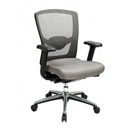 Office Star Products - 511342AL - Gray Mesh Desk Chair 21 Back Height, Arm Style: Adjustable