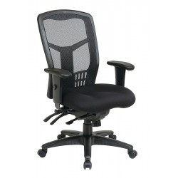 Office Star Products - 92892-30 - Coal Fabric Desk Chair 23 Back Height, Arm Style: Adjustable