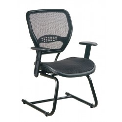 Office Star Products - 5565 - Space Side Chair, AirGrid, Black