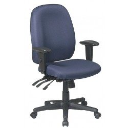 Office Star Products - 43819-225 - Navy Blue Fabric Desk Chair 23 Back Height, Arm Style: 2-Way Adjustable