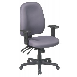 Office Star Products - 43819-226 - Gray Fabric Desk Chair 23 Back Height, Arm Style: 2-Way Adjustable