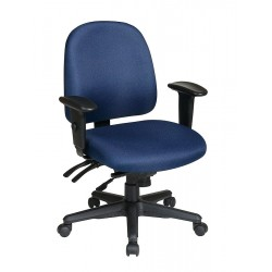 Office Star Products - 43808-225 - Navy Blue Fabric Desk Chair 19 Back Height, Arm Style: 2-Way Adjustable