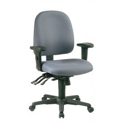 Office Star Products - 43808-226 - Gray Fabric Desk Chair 19 Back Height, Arm Style: 2-Way Adjustable
