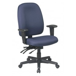 Office Star Products - 43998-225 - Navy Blue Fabric Desk Chair 23 Back Height, Arm Style: Adjustable