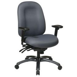 Office Star Products - 8511-226 - Gray Fabric Desk Chair 24-1/4 Back Height, Arm Style: Adjustable
