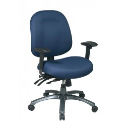 Office Star Products - 8512-225 - Navy Blue Fabric Desk Chair 22 Back Height, Arm Style: Adjustable