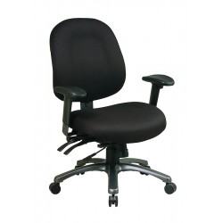 Office Star Products - 8512-231 - Black Fabric Desk Chair 22 Back Height, Arm Style: Adjustable
