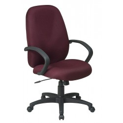 Office Star Products - EX2654-227 - Burgundy Fabric Executive Chair 25 Back Height, Arm Style: Fixed