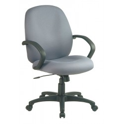 Office Star Products - EX2651-226 - Gray Fabric Executive Chair 21 Back Height, Arm Style: Fixed