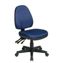 Office Star Products - 36420-225 - Navy Blue Fabric Desk Chair 18-1/2 Back Height, Arm Style: No Arms