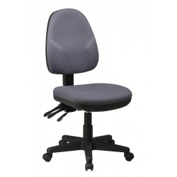 Office Star Products - 36420-226 - Gray Fabric Desk Chair 18-1/2 Back Height, Arm Style: No Arms