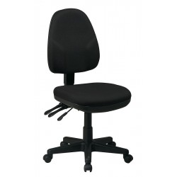 Office Star Products - 36420-231 - Black Fabric Desk Chair 18-1/2 Back Height, Arm Style: No Arms