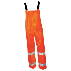 Tingley Rubber - O24129 - Hi-Vis Rain Bib Overall, Class 3, OR, 2XL