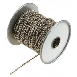 Lucky Line - 31700 - Beaded Chain Spool, Nickel Plated Steel, 1 EA