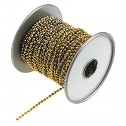 Lucky Line - 31800 - Beaded Chain Spool, Yellow Brass - No. 6, 1 EA