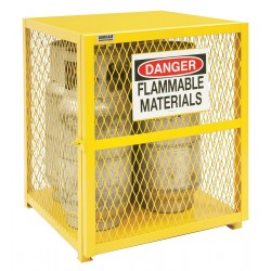 Durham - EGCVC4-50 - Yellow Gas Cylinder Cabinet, 30 Overall Width, 30 Overall Depth, 35 Overall Height, 4 Vertical Cy