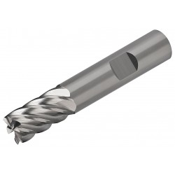 Micro 100 Tool - EMH-625-06 - Square End Mill, 5/8 Milling Dia., Number of Flutes: 6, 1-1/4 Length of Cut, Uncoated, EMH