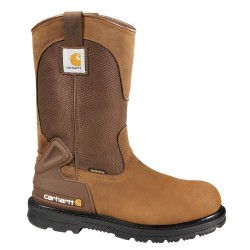 Carhartt - CMP1100 8M - 11H Men's Wellington Boots, Plain Toe Type, Leather Upper Material, Brown, Size 8