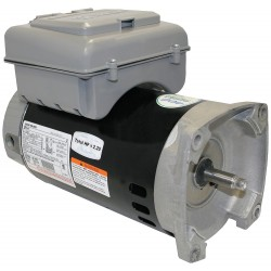 A.O. Smith - B2982T - 1, 1/10 HP Square Flange Pool Pump Motor, Capacitor-Start, 3450/1725 Nameplate RPM, 230 Voltage, 56Y