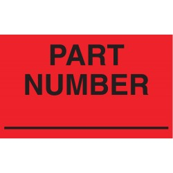 Tapecase - 16U801 - Shipping Labels, Part Number Legend, Paper, Adhesive Back, 5 Width, 3 Height