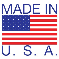 Tapecase - 16U804 - Shipping Labels, Made In USA Legend, Paper, Adhesive Back, 1 Width, 1 Height