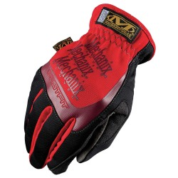 MechanixWear - MFF-02-010 - Leather Mechanics Gloves, Synthetic Leather Palm Material, Red, L, PR 1