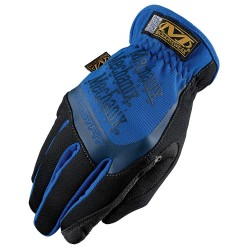 MechanixWear - MFF-03-009 - Mechanix Wear Medium Black And Blue FastFit Full Finger Synthetic Leather Mechanics Gloves With Elastic Cuff, Spandex Padded Back, Stretch Panels