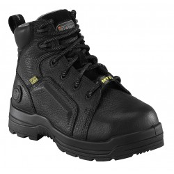 Rockport - RK465-12M - 6H Women's Work Boots, Composite Toe Type, Leather Upper Material, Black, Size 12M