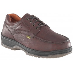 Florsheim Work - FE2440-95D - 4H Men's Oxford Shoes, Composite Toe Type, Leather Upper Material, Brown, Size 9-1/2D