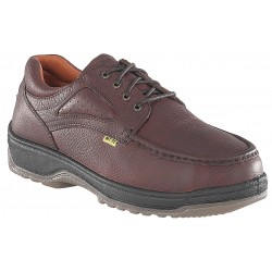 Florsheim Work - FE244-65EEE - 4H Women's Oxford Shoes, Composite Toe Type, Leather Upper Material, Brown, Size 6-1/2EEE