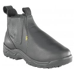Florsheim Work - FE690-75D - 6H Men's Work Boots, Steel Toe Type, Leather Upper Material, Black, Size 7-1/2M