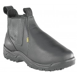 Florsheim Work - FE690-12D - 6H Men's Work Boots, Steel Toe Type, Leather Upper Material, Black, Size 12M
