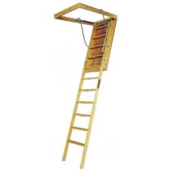 Louisville Ladder - L305P - Attic Ladder, Wood, 350 lb. Load Capacity, 8 ft. 9 to 10 ft. Ceiling Height Range