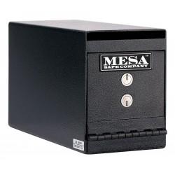 Mesa Safe - MUC2K - Cash Depository Safe, 0.2 cu. ft., 22 lb., Hammered Gray