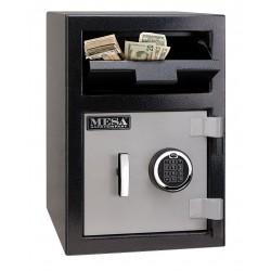Mesa Safe - MFL2014E - Cash Depository Safe, 0.8 cu. ft., 86 lb., Two Tone Black Gray