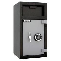 Mesa Safe - MFL2714E - Cash Depository Safe, 1.4 cu. ft., 114 lb., Two Tone Black Gray