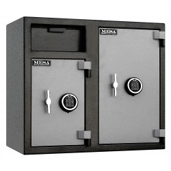 Mesa Safe - MFL2731EE - Cash Depository Safe, 6.7 cu. ft., 256 lb., Two Tone Black Gray