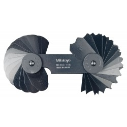 Mitutoyo - 186106 - 7.5-15mm Metric Radius Gage W/32 Leaves